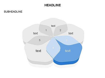 Overlapping Rounded Hexagon, Slide 4, 03589, Shapes — PoweredTemplate.com