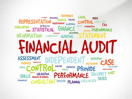 Financial Audit Presentation Concept, 03598, Presentation Templates — PoweredTemplate.com
