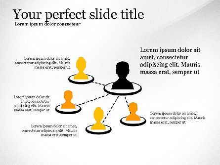 Network Diagram Toolbox, Slide 4, 03599, Organizational Charts — PoweredTemplate.com