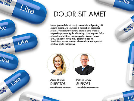Social Pills Presentation Concept, Slide 2, 03601, Presentation Templates — PoweredTemplate.com