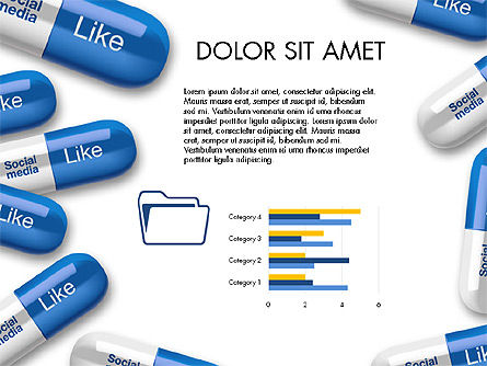 Social Pills Presentation Concept, Slide 4, 03601, Presentation Templates — PoweredTemplate.com