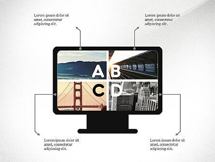 Process Arrows and Idea, Slide 4, 03602, Process Diagrams — PoweredTemplate.com