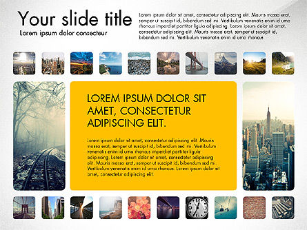 Presentation Template with Photos, 03613, Presentation Templates — PoweredTemplate.com