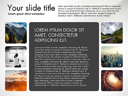 Presentation Template with Photos, Slide 3, 03613, Presentation Templates — PoweredTemplate.com