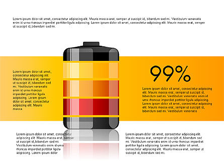 Battery Charge Level Infographics, 03616, Infographics — PoweredTemplate.com