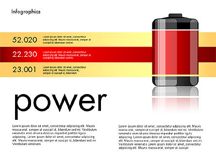 Battery Charge Level Infographics, Slide 2, 03616, Infographics — PoweredTemplate.com