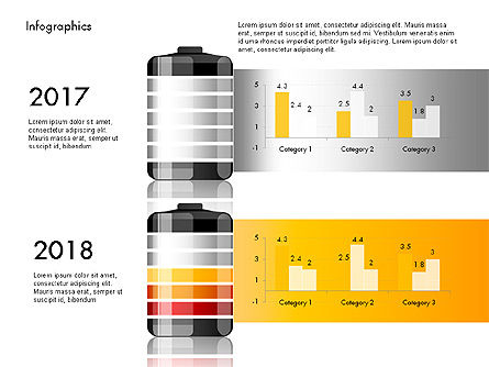 Battery Charge Level Infographics, Slide 3, 03616, Infographics — PoweredTemplate.com