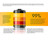 Infographics: Battery Charge Level Infographics #03616