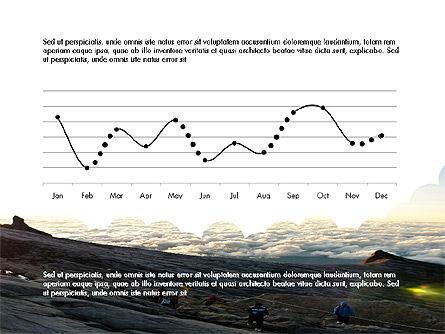 Creative Report with Data Driven Charts, Slide 4, 03618, Presentation Templates — PoweredTemplate.com