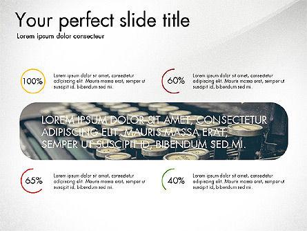 Presentation Templates: Cubierta de diapositivas con puntos de control y línea de tiempo #03624