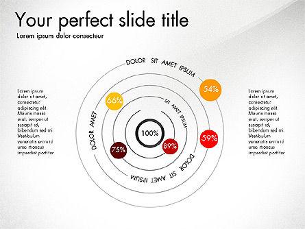Slide Deck with Orbit Charts, Slide 4, 03625, Presentation Templates — PoweredTemplate.com