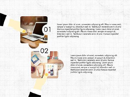 Teamwork Concept with Puzzle Pieces, Slide 2, 03626, Presentation Templates — PoweredTemplate.com
