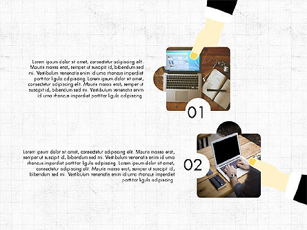 Teamwork Concept with Puzzle Pieces, Slide 3, 03626, Presentation Templates — PoweredTemplate.com