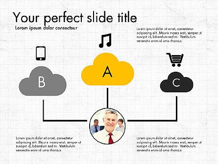 Media and Clouds Slide Deck, Slide 2, 03628, Presentation Templates — PoweredTemplate.com