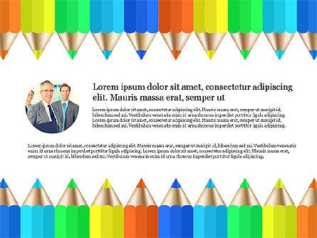 Report with Colored Pencils, Slide 2, 03631, Presentation Templates — PoweredTemplate.com