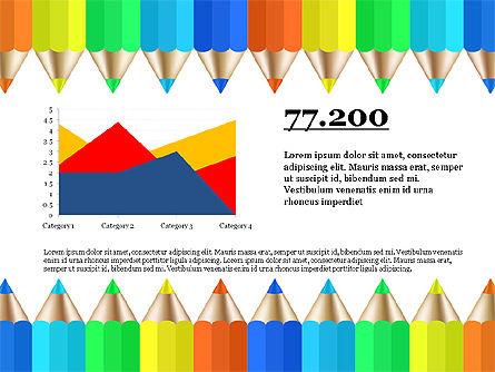 Report with Colored Pencils, Slide 3, 03631, Presentation Templates — PoweredTemplate.com