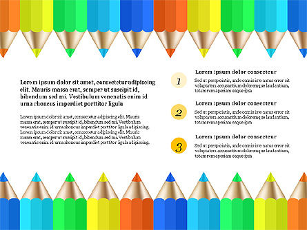 Report with Colored Pencils, Slide 4, 03631, Presentation Templates — PoweredTemplate.com