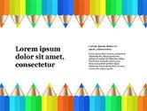 Presentation Templates: Signaler avec des crayons de couleur #03631