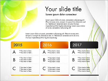 Presentation in Green Colors, Slide 3, 03642, Presentation Templates — PoweredTemplate.com