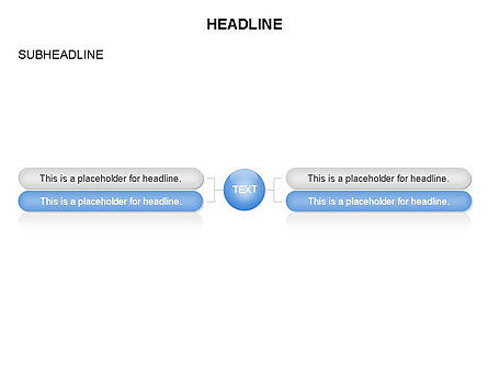 Hierarchy Organization Chart, Slide 2, 03655, Organizational Charts — PoweredTemplate.com