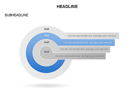 Concentric Circles with Labels, Slide 4, 03657, Shapes — PoweredTemplate.com