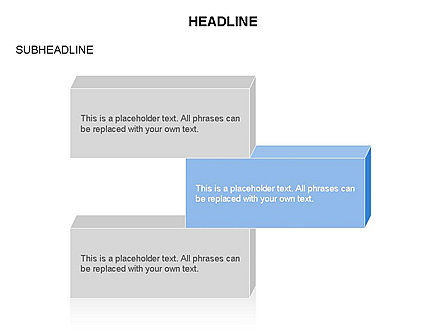 Text Parallelepipeds, Slide 3, 03658, Text Boxes — PoweredTemplate.com