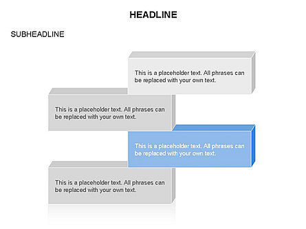 Text Parallelepipeds, Slide 4, 03658, Text Boxes — PoweredTemplate.com