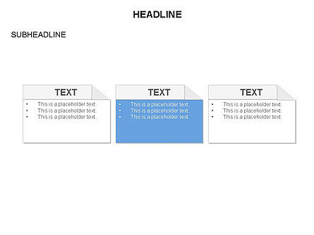 Process Blocks, Slide 3, 03679, Process Diagrams — PoweredTemplate.com