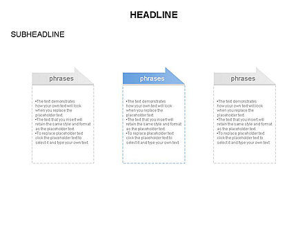Process Text Blocks, Slide 3, 03683, Process Diagrams — PoweredTemplate.com