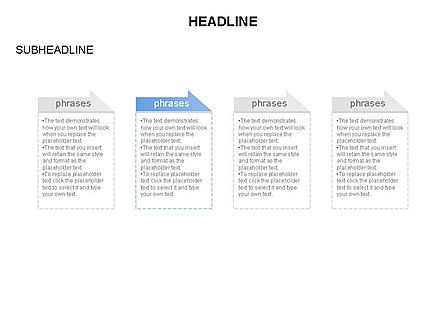 Process Text Blocks, Slide 4, 03683, Process Diagrams — PoweredTemplate.com