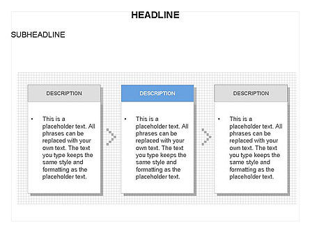 Process Text Boxes, Slide 3, 03684, Process Diagrams — PoweredTemplate.com