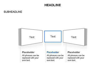 Timeline Text Blocks, 03686, Stage Diagrams — PoweredTemplate.com