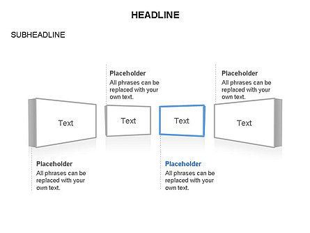 Timeline Text Blocks, Slide 2, 03686, Stage Diagrams — PoweredTemplate.com
