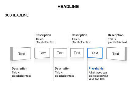 Timeline Text Blocks, Slide 3, 03686, Stage Diagrams — PoweredTemplate.com