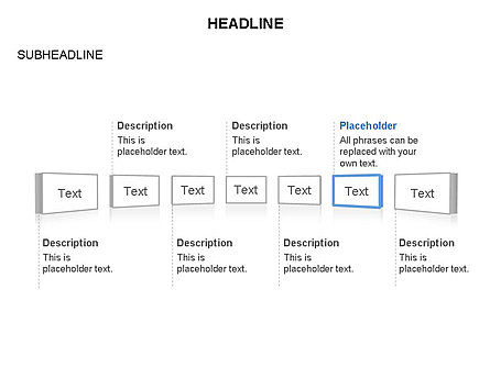 Timeline Text Blocks, Slide 4, 03686, Stage Diagrams — PoweredTemplate.com