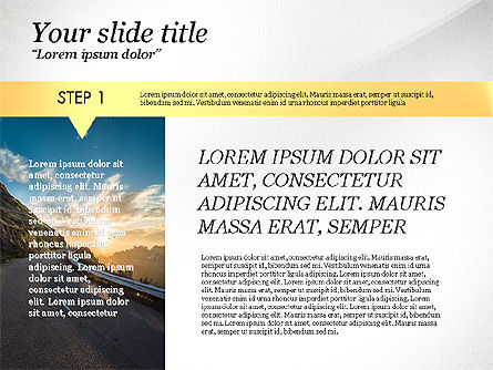 Steps Presentation Template, 03691, Presentation Templates — PoweredTemplate.com