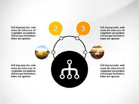 Presentation with Flat Designed Shapes, Slide 4, 03692, Presentation Templates — PoweredTemplate.com