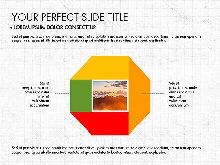 Donut Presentation Concept, Slide 4, 03696, Pie Charts — PoweredTemplate.com