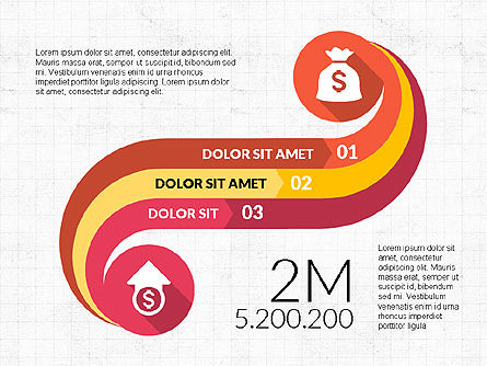 Curved Infographic Shapes, 03710, Infographics — PoweredTemplate.com