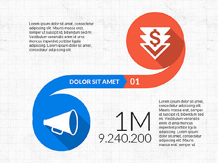 Curved Infographic Shapes, Slide 3, 03710, Infographics — PoweredTemplate.com