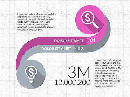 Curved Infographic Shapes, Slide 4, 03710, Infographics — PoweredTemplate.com