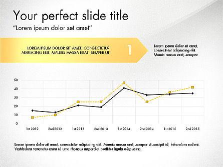 Bowed Arrows Report, Slide 2, 03716, Process Diagrams — PoweredTemplate.com