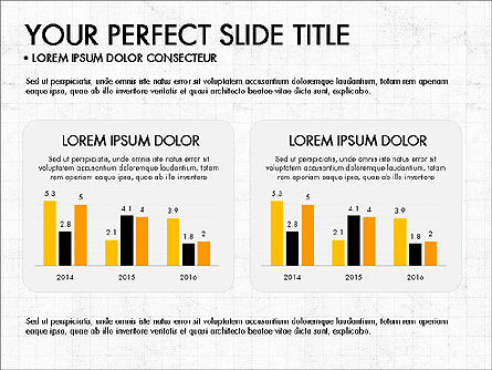 Icons and Histograms Report, Slide 4, 03717, Presentation Templates — PoweredTemplate.com