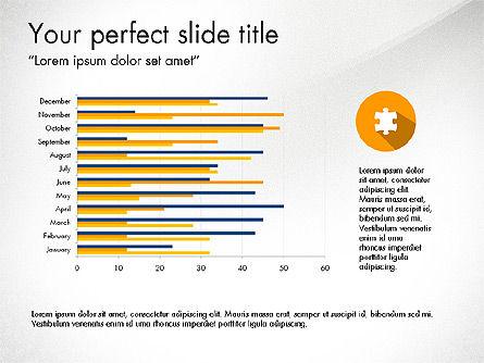 Report with Material Design Icons, Slide 3, 03719, Icons — PoweredTemplate.com