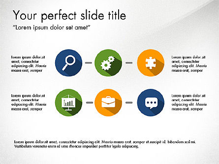 Report with Material Design Icons, Slide 4, 03719, Icons — PoweredTemplate.com