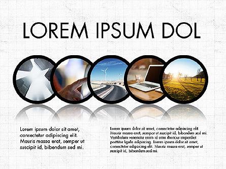 Hub and Spokes Presentation Concept, Slide 4, 03721, Presentation Templates — PoweredTemplate.com