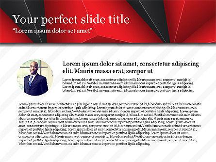 Business Report Presentation Deck, Slide 2, 03751, Presentation Templates — PoweredTemplate.com