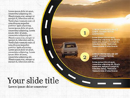 Road Report Concept, Slide 4, 03753, Presentation Templates — PoweredTemplate.com
