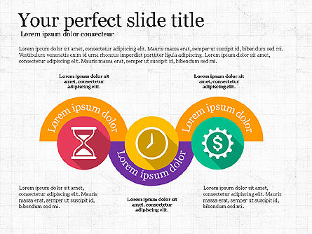 Stage Timeline and Icons, Slide 4, 03754, Icons — PoweredTemplate.com