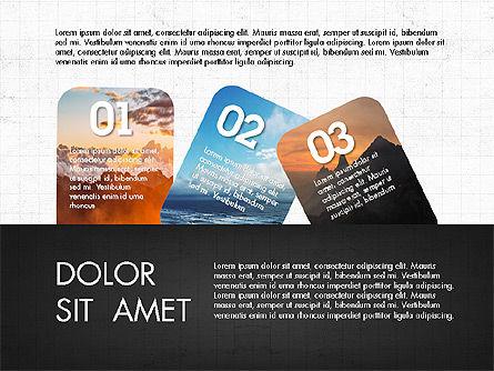 Labels Slide Deck, Slide 2, 03764, Shapes — PoweredTemplate.com